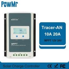 EPever – contrôleur MPPT pour panneaux solaires, 12V/24V, 10a, avec rétro-éclairage LCD, pour 60V Max, entrée Tracer1206AN 2206AN