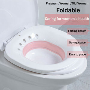 Toilet Seat Cover Folding Toilet Sitz Bath Tub Soaking Basin for Pregnant Women Hemorrhoid Patient(China)