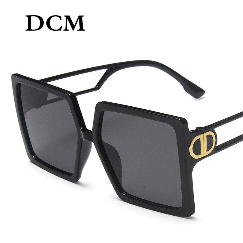 Oversize-platz Sonnenbrillen Frauen Großen Rahmen Mode Retro Sonnenbrille Weibliche Marke Vintage Dame Lunette De Soleil Femme