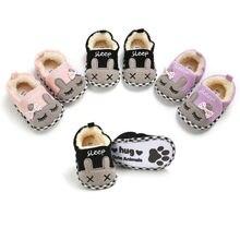 0-18 мес.; обувь для маленьких девочек; зимняя теплая мягкая детская обувь для новорожденных; модные мягкие Нескользящие ботильоны с героями мультфильмов