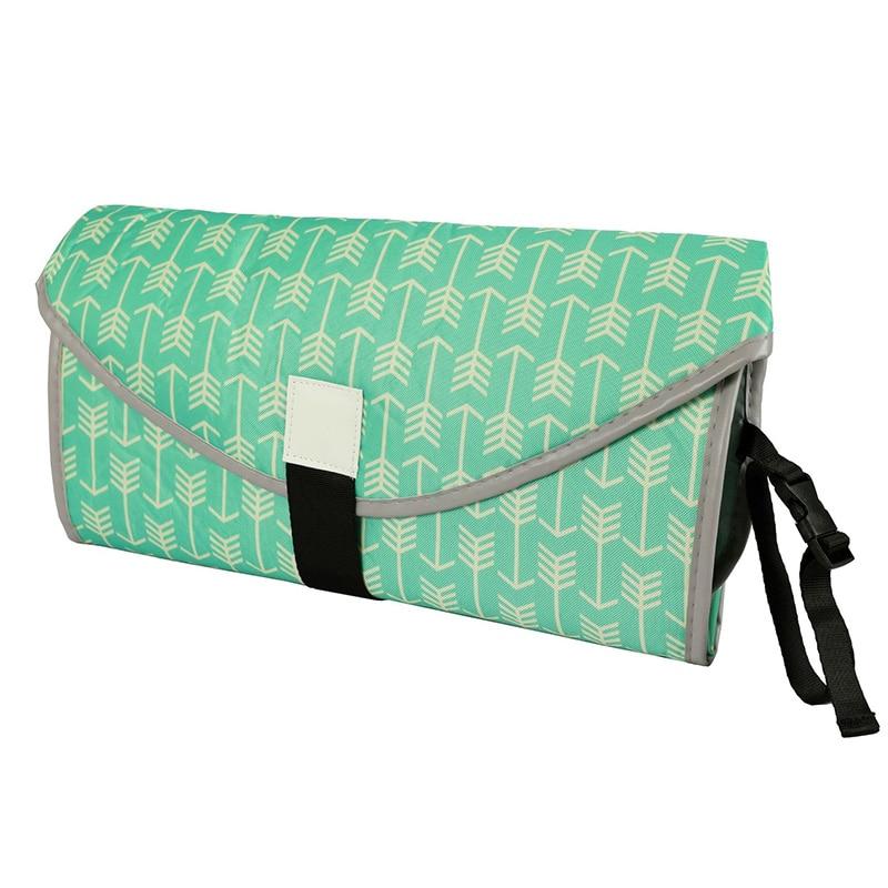 Новые 3 в 1 Водонепроницаемый пеленальный коврик пеленки мнчества, Портативный чехол для детских подгузников коврик чистой ручной складной сумка из узорчатой ткани - Цвет: CPD061