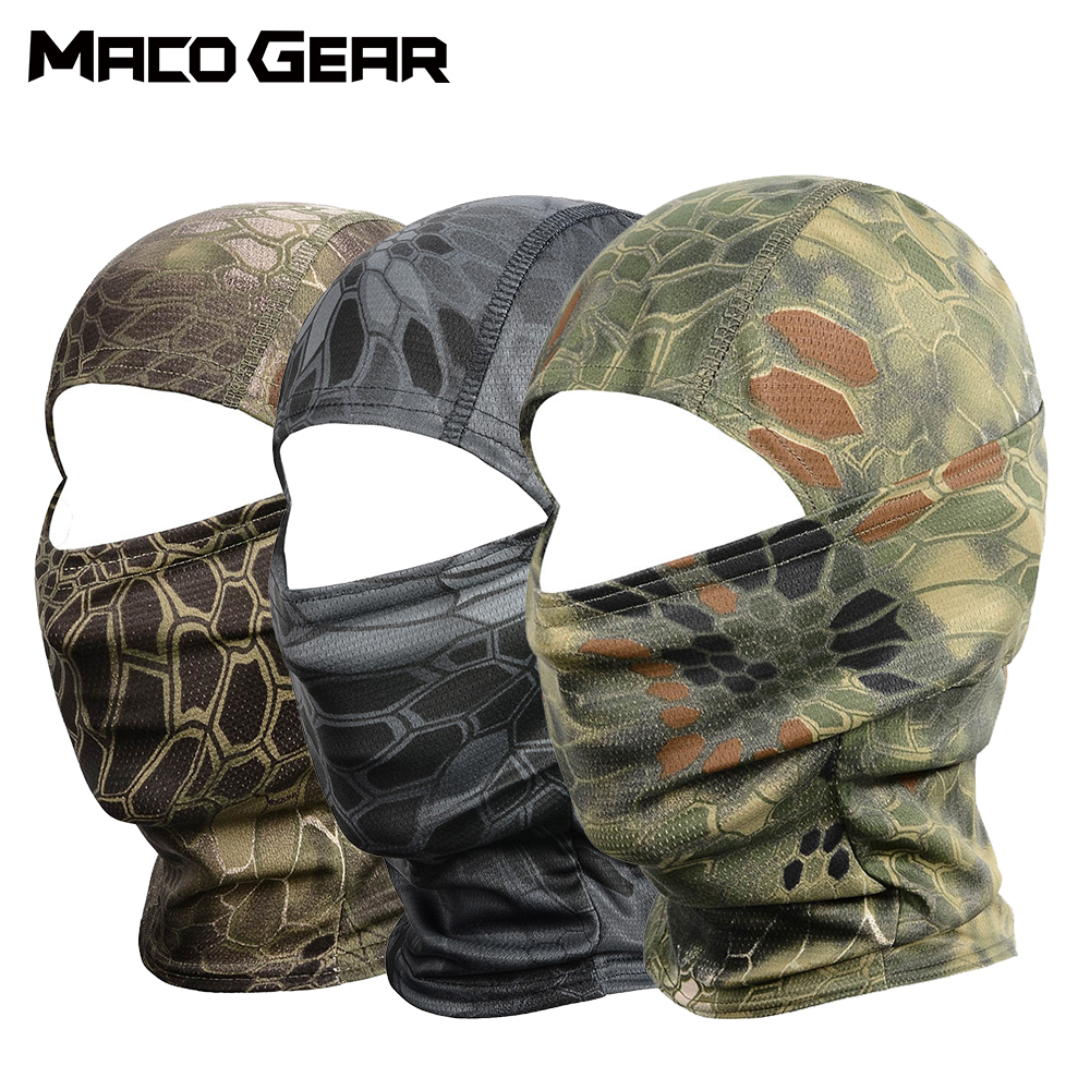 Sport Tactical Camouflage Balaclava Outdoor Full Face Mask Cover Bicycle Hunting Hiking Cycling Army Bike Military Liner Cap-in Scarves from Sports & Entertainment
