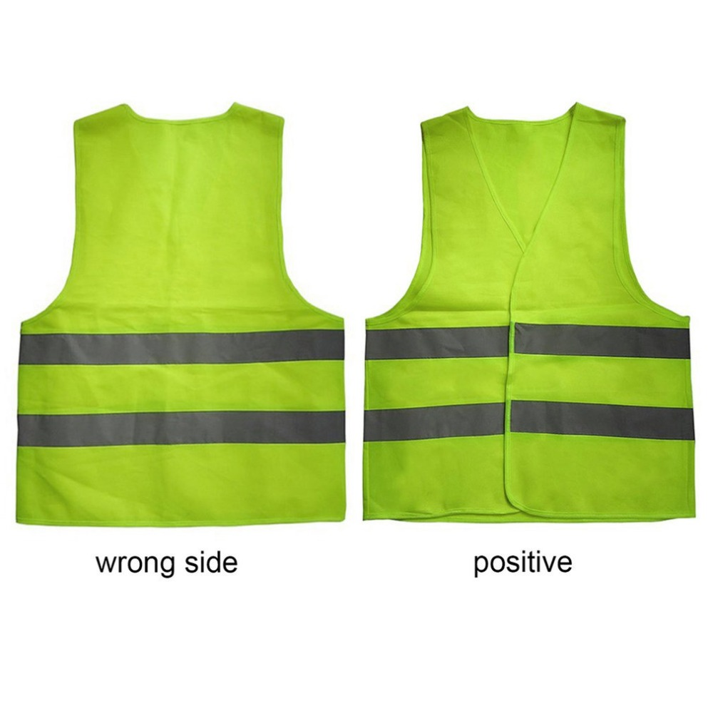 XL XXL XXXL Reflective Fluorescent Vest Yellow Orange Color Outdoor Safety Clothing Running Ventilate Safe High Visibility