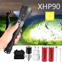 Led Flashlight Xhp70.2 Most-Powerful 16000LM XHP90 Rechargeable Tactical Super-Bright