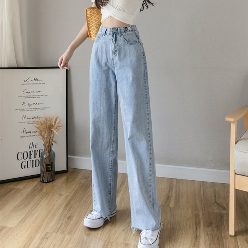 Woman Jeans High Waist Clothes Wide Leg Denim Clothing Streetwear Vintage Quality 2020 Summer Fashion Harajuku Loose Pants