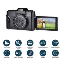 Digital Camera HD IPS Screen Video 30.0MP Camera Portable 16x Kids Digital Zoom Photo Camera Supports The External Lens And Mic