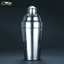 1.8L Big Cocktail Shaker Polish Silver 304 Stainless Steel Boston Shaker: 3-piece Sets