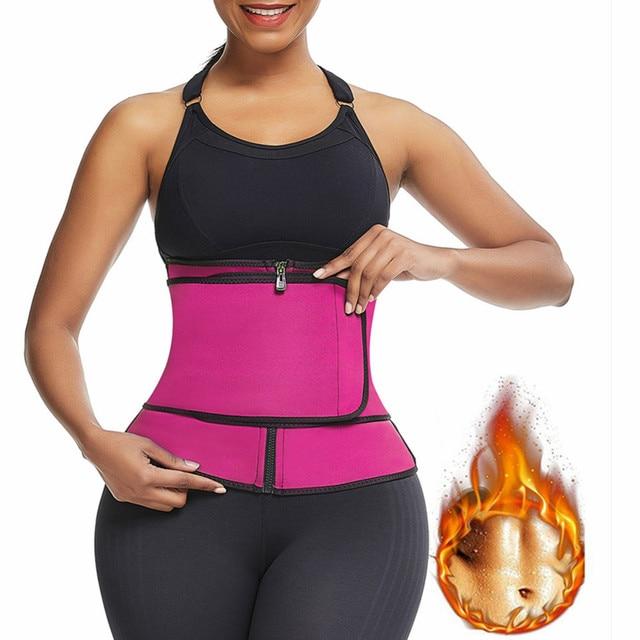 Feelingirl Neoprene  Waist Trainer Body Shaper Modeling Strap Sauna Shaper Butt Lifter Fitness Corset Sweat Slimming Belt