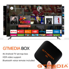GTMEDIA G1 Android TV Box+1 year IPTV subscription Android 7.1 1GB 8GB Media player 4K Google smart tv Netflix Youtube PK H96MAX(China)