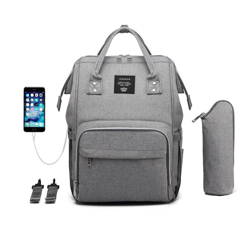 USB сумка для подгузников, рюкзак для мам, мокрая сумка для мам, водонепроницаемая сумка для коляски, сумка Органайзер, уличные сумки для ухода за детьми LEQUEENСумки для подгузников   -