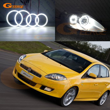 цена на For FIAT BRAVO 198 2007 2008 2009 2010 2011 2012 2013 2014 2015 Excellent Ultra bright illumination smd led Angel Eyes kit DRL