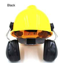 Noise Cancelling Ear Muffs Hard Hat Mounting Blocking Sound Reduction Ear Protection Helmet Attachable Safety Ear Muffs