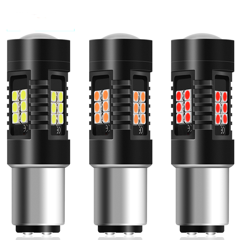 2Pcs Car Light 1156 <font><b>LED</b></font> <font><b>BA15S</b></font> P21W <font><b>LED</b></font> BAU15S PY21W BAY15D 1157 P21/<font><b>5W</b></font> <font><b>R5W</b></font> 21 SMD 3030 Auto Lamp Bulbs <font><b>LED</b></font> <font><b>12V</b></font> - 24V Car Styling image