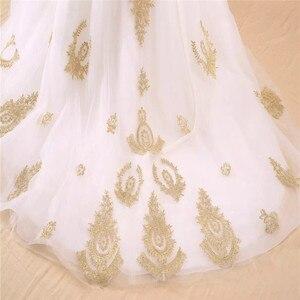 Image 5 - Vestido de noiva real photo di Lusso Una Linea Ricamato In Oro Applique In Rilievo Sweetheart abito da sposa madre della sposa abiti