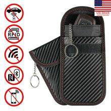 Men's business style anti-theft key bag Faraday Bag Cage Shield Car Key Fob Signal Blocking Pouch Bag Key Protector