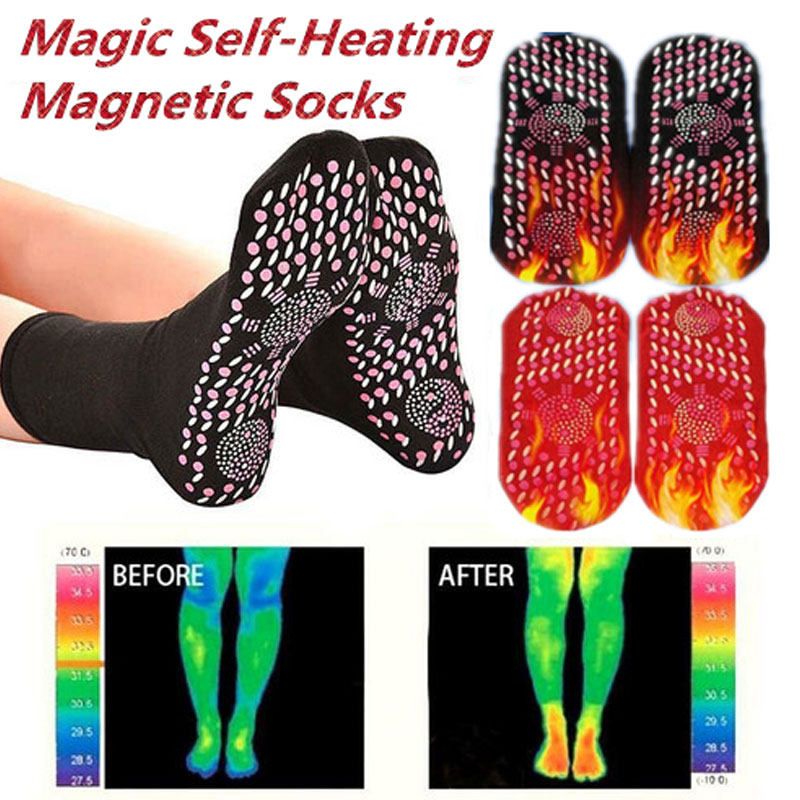 Self-Heating Health Care Socks Tourmaline Magnetic Therapy Comfortable And Breathable Massager Winter Warm Foot Care Socks KBEST