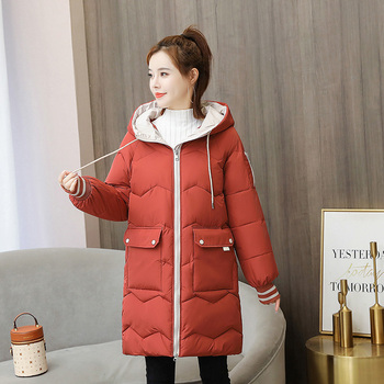 2020 Winter New Women Jacket Coats Parkas Female Down cotton Hooded Overcoat Thick Warm Jackets Loose Casual Student Coat new large fur down jacket winter women 2020 new fashion loose hooded cotton padded jacket coat female thick long parkas outwear