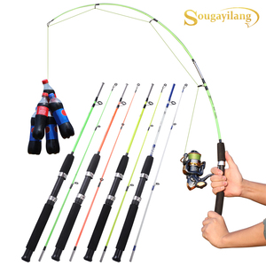 Sougayilang 4 Color 120cm Spinning Hand Lure Fishing Rod EVA Handle Ultralight ABS Resin Body Travel Boat Rod
