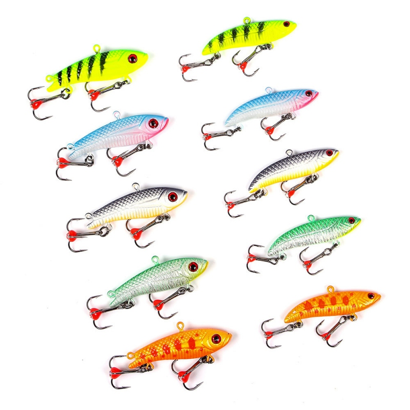 1PCS winter Ice Fishing Lure Fake Lure 50mm 3D Eyes Artificial Bait Treble Hooks For Fishing Carp Walleye Pike Perche