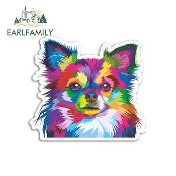 EARLFAMILY 13cm x 11.8cm dla Chihuahua naklejki samochodowe z psami winylu JDM wodoodporna RV VAN grzywny naklejka 3D grafika Anime komiks znak