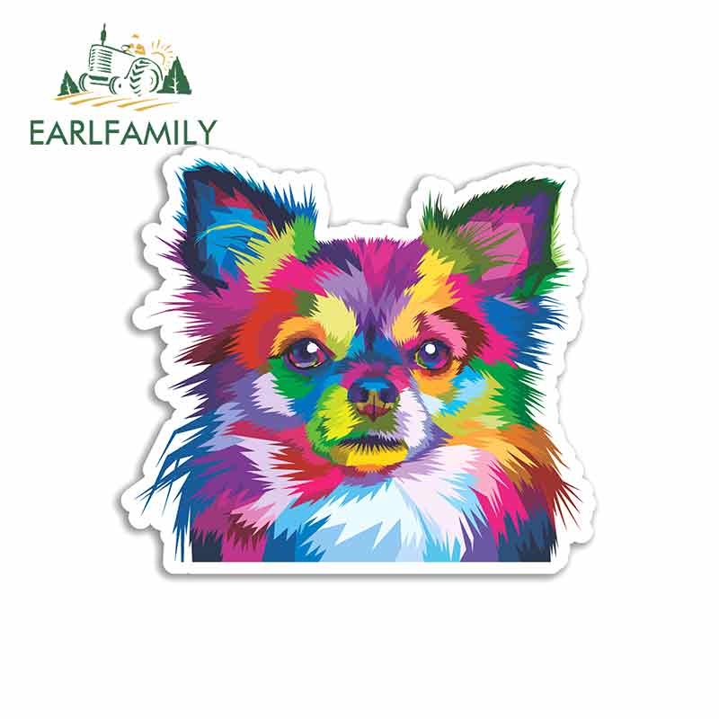 EARLFAMILY 13cm x 11.8cm for Chihuahua Dog Car Stickers Vinyl JDM Waterproof RV VAN Fine Decal 3D Graphics Anime Comic Sign(China)