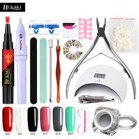 BUKAKI Nail Gel Pen 3 In 1 Lacquer Hybrid UV Gel Varnish Temperature Change Color Gel Varnish Nail Art Sets