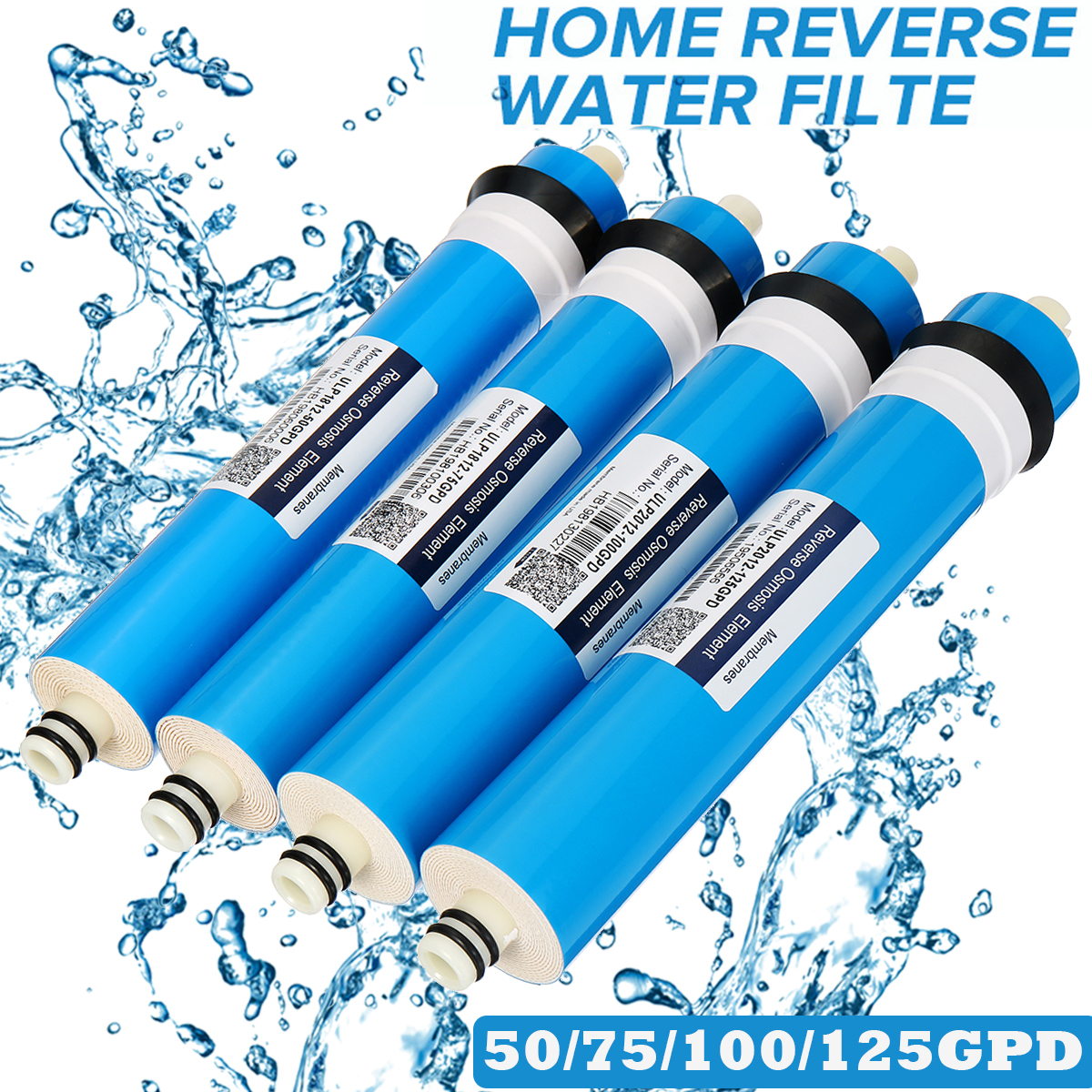 75/100/125 GPD RO Membrane For 5  Water Filter Purifier Treatment Reverse Osmosis System