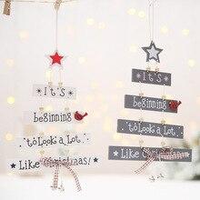 Christmas Tree Decoration Ornaments Pendant Christmas Decoration for Home Wooden Hanging  Navidad Decor 2019 Noel Xmas Ornaments цена