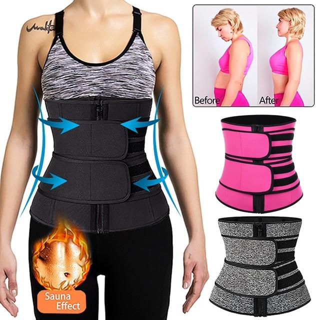 New Fashion Waist Trainer Body Shaper Thermo Sweat Belt Girdle Corset Women Waist Trainer Reducing Shapers Slimming Trimmer Belt 1
