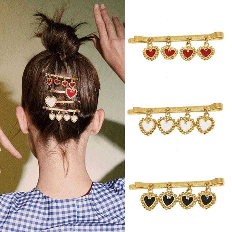 3pcs Styling Wavy Hair Bobby Pins Oil Drop Star Planet Glitter Hair Barrettes