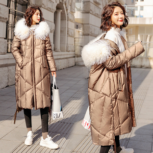 Image 5 - FTLZZ 2020 Winter Jacket Women 90% White Duck Down Coats Large Fur Collar Loose Parkas Outerwear Thick Waterproof Jackets