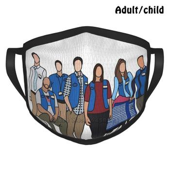Superstore Fashion Print Funny Pm2.5 Reusable Face Mask Amy Amy Sosa Jonah Superstore America Ferrara Ben Feldman Dina Glenn image