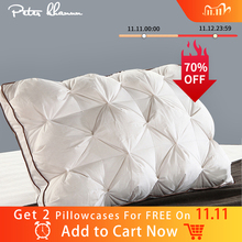 Peter Khanun almohadas de cama de plumas de ganso/pato blanco rectangulares, estilo 3D de lujo, 48x74cm, 100% a prueba de plumas, funda de algodón 038