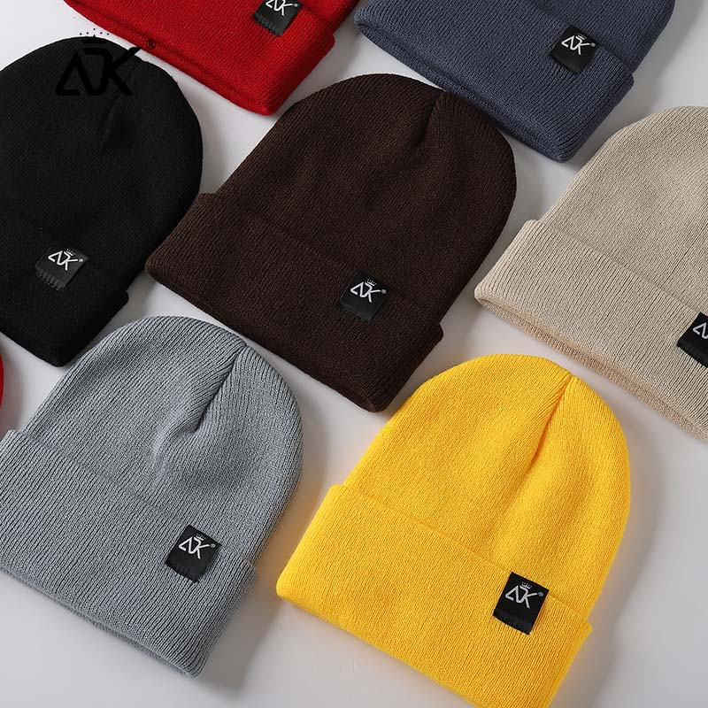 Unisex Hats Knitted ADK Tags Cap Woman Beaines For Winter Breathable Men Gorras Simple Hats Warm Solid Casual Lady Beanies 1