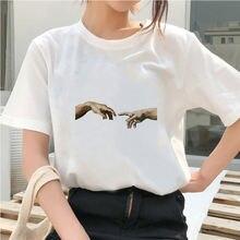 Женская футболка с принтом руки микеланжело Давида женская эстетическая
