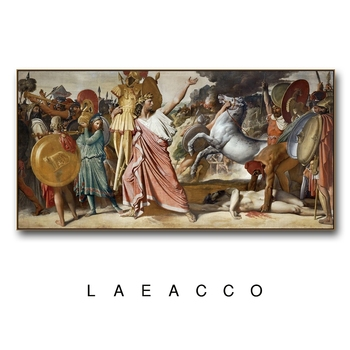 Laeacco Classical Canvas Painting Calligraphy Posters and Prints Wall Art By Ingres Pictures for Living Room Home Decoration image
