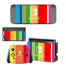 Nintendo Switch autocollant de peau vinyle NintendoSwitch autocollants peaux compatibles avec la Console de commutateur nintention et les contrôleurs Joy Con