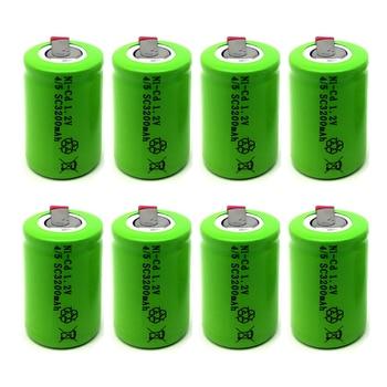 100% nowy akumulator 4/5 SC 1.2V 3200mAh 4/5 SC akumulator ni-cd z zakładkami spawalniczymi, odpowiedni do elektronarzędzia, takiego jak ele