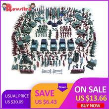 Rowsfire 301 шт./лот 5 см пластиковая солдатская модель Второй мировой войны солдатская Военная игрушка набор для детей