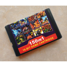 Hight quality 150 in 1 Game Cartridge 16 bit Game Card for Sega Mega Drive Genesis Console for PAL and NTSC console