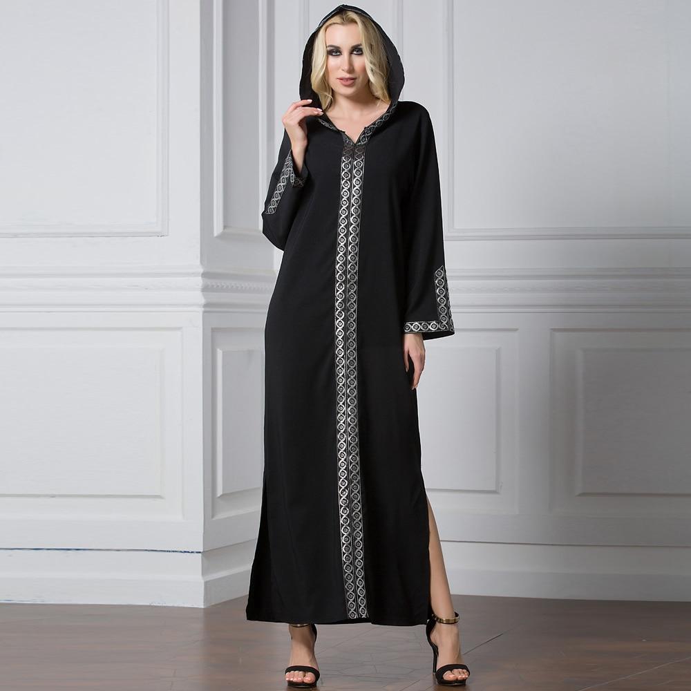 Plus Size Abaya Kaftan Dubai Muslim Hijab Dress Abayas Caftan Marocain Qatar Turkey Elbise Ramadan Hoodies Islamic Clothing Robe