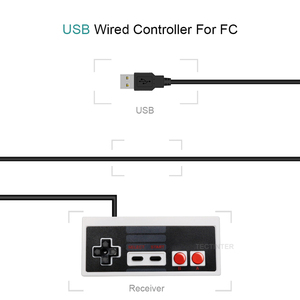 Image 4 - Для NES проводной USB контроллер геймпад PC/USB/NES компьютерные видеоигры Mando ручка Ретро USB для NES джойстик Controle Manette