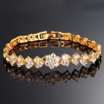 CAB002 New Fashion Roman Style Woman Bracelet Wristband Crystal Bracelets Gifts Jewelry Accessories Fantastic Wristlet Trinket