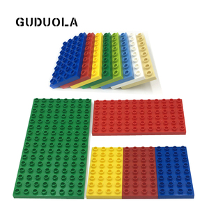 Bricks Base Plate 8X16dots 6x12dots 4x8dots Duplo in Block Double Sided Baseplate Big Building Block Large Size Dots Accessories