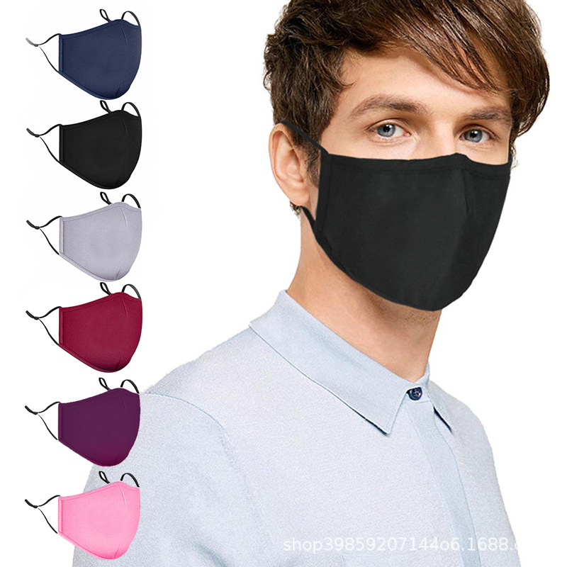 Washable Face Breathing Mask Cycling Anti Dust Environmental Mouth Mask Respirator Fashion Black Mask Mens Mask For Sun