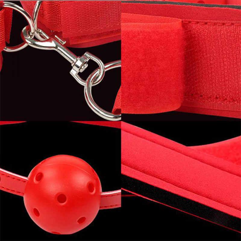 SM Erotische Sex Spielzeug Für Frau Homosexuell Paare Fetisch Flirten Sexy Handschellen Kragen Bdsm Sex Bondage Seil Slave Sex Shop mund Stecker