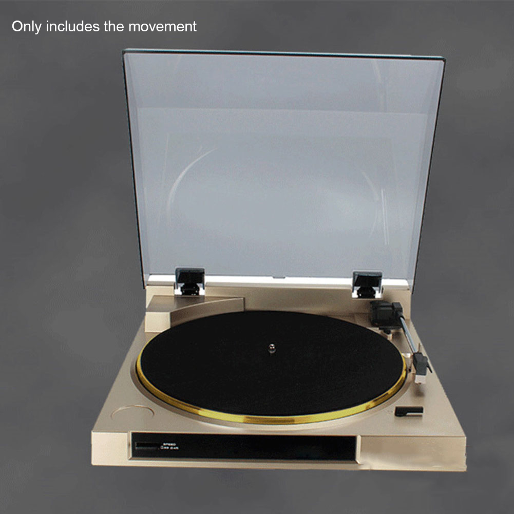 28cm Accessories Vintage Gramophone Turntable Vinyl Audio Replacement 33 45 78Rpm Automatic Curve Arm Stereo Adjustable 3 Speeds