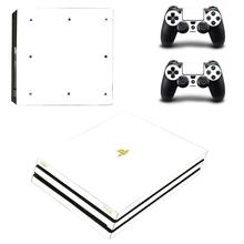 Adesivi PS4 Pro bianchi puri Play station 4 Skin Sticker Decal Cover per PlayStation 4 PS4 Pro Console e Controller Skin Vinyl