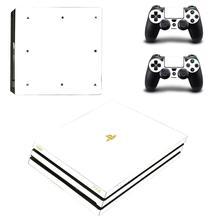 Pure White PS4 Pro naklejki Play station 4 skórka naklejka naklejka na konsolę PlayStation 4 PS4 Pro i skórka na kontroler winylu