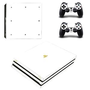 Image 1 - Pure White PS4 Pro naklejki Play station 4 skórka naklejka naklejka na konsolę PlayStation 4 PS4 Pro i skórka na kontroler winylu